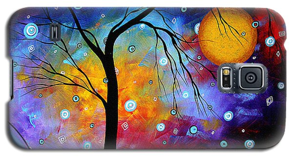 Abstract Galaxy S5 Cases - WINTER SPARKLE Original MADART Painting Galaxy S5 Case by Megan Duncanson