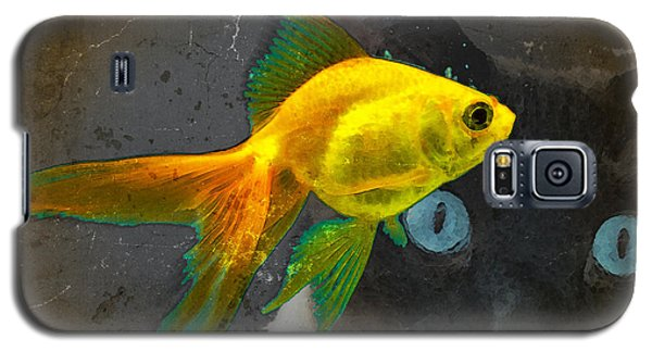 Wishful Thinking - Cat And Fish Art By Sharon Cummings Galaxy S5 Case by Sharon Cummings