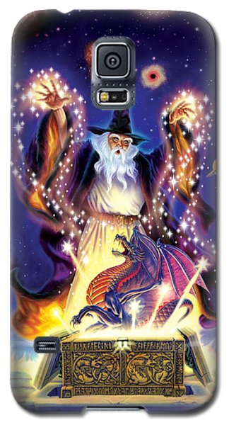 Wizard Dragon Spell Galaxy S5 Case by Andrew Farley