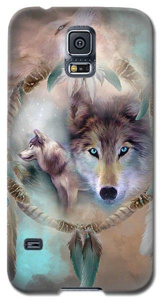 Wolf - Dreams Of Peace Galaxy S5 Case by Carol Cavalaris