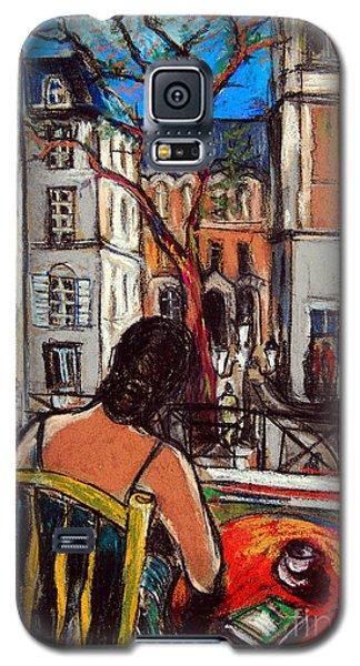Woman At Window Galaxy S5 Case by Mona Edulesco