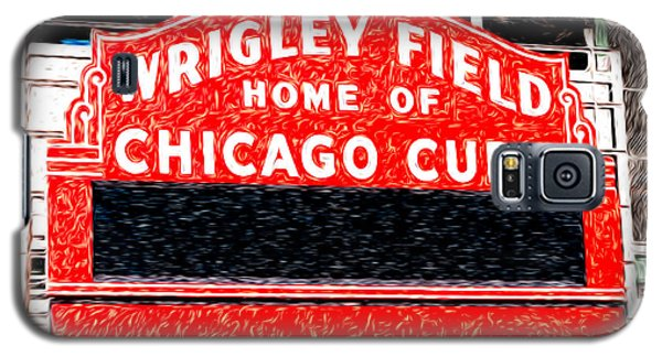 Wrigley Field Chicago Cubs Sign Digital Painting Galaxy S5 Case by Paul Velgos