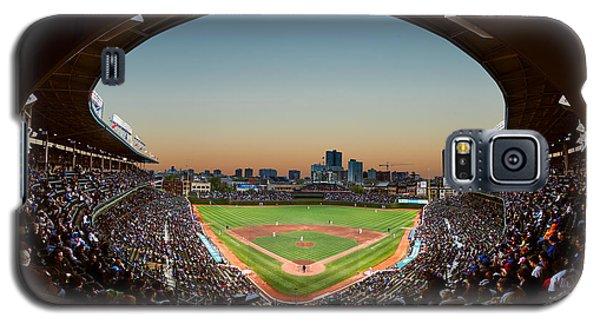 Wrigley Field Night Game Chicago Galaxy S5 Case by Steve Gadomski