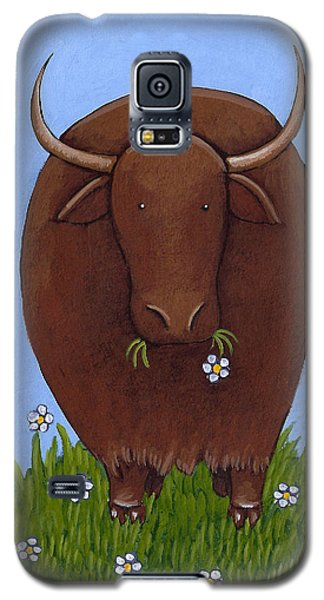 Whimsical Yak Painting Galaxy S5 Case by Christy Beckwith