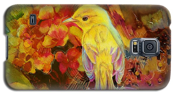 Yellow Bird Galaxy S5 Case by Catf