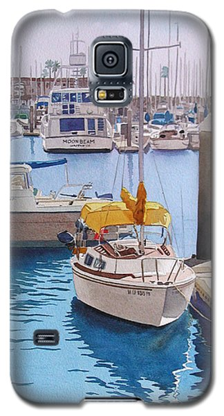 Yellow Sailboat Oceanside Galaxy S5 Case by Mary Helmreich