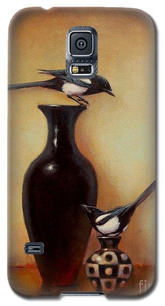 Yin Yang - Magpies  Galaxy S5 Case by Lori  McNee
