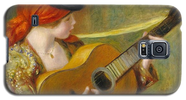 Young Spanish Woman With A Guitar Galaxy S5 Case by Pierre Auguste Renoir