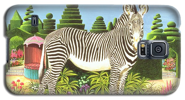 Zebra In A Garden Galaxy S5 Case by Anthony Southcombe