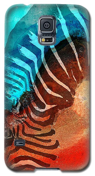 Zebra Love - Art By Sharon Cummings Galaxy S5 Case by Sharon Cummings