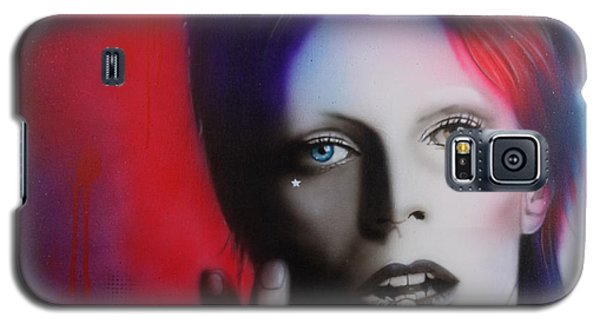 Celebrities Galaxy S5 Cases - Ziggy Stardust Galaxy S5 Case by Christian Chapman