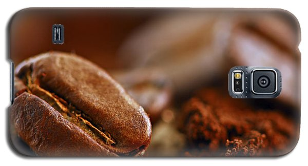 Still Life Galaxy S5 Cases - Coffee beans and ground coffee Galaxy S5 Case by Elena Elisseeva