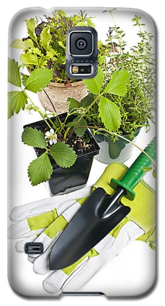 Gardening Tools And Plants Galaxy S5 Case by Elena Elisseeva