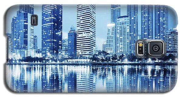 Galaxy S5 Cases - Night Scenes Of City Galaxy S5 Case by Setsiri Silapasuwanchai