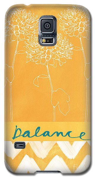 Floral Galaxy S5 Cases - Balance Galaxy S5 Case by Linda Woods
