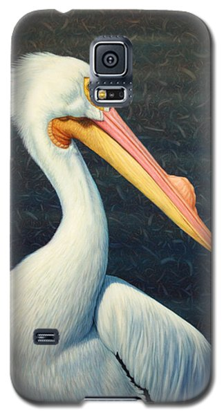 Animals Galaxy S5 Cases - A Great White American Pelican Galaxy S5 Case by James W Johnson