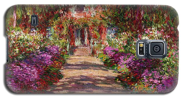 Flowers Galaxy S5 Cases - A Pathway in Monets Garden Giverny Galaxy S5 Case by Claude Monet