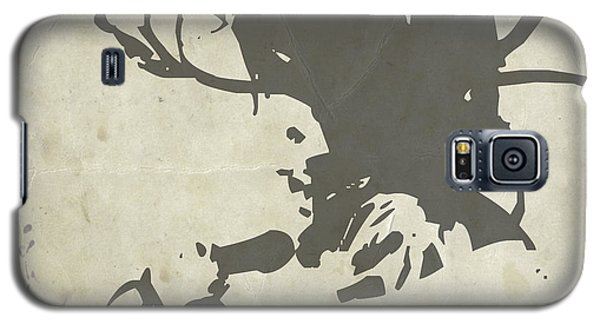 Celebrities Galaxy S5 Cases - Bob Marley Grey Galaxy S5 Case by Naxart Studio