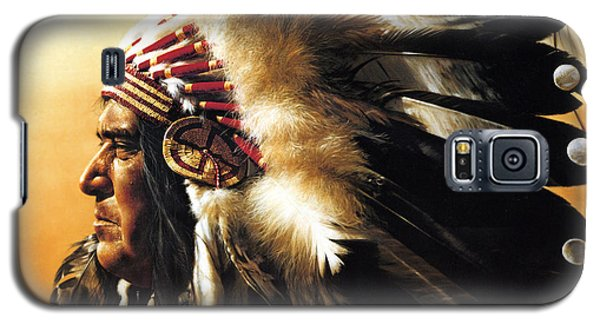 Portraits Galaxy S5 Cases - Chief Galaxy S5 Case by Greg Olsen