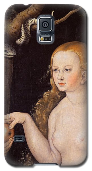 Eve Offering The Apple To Adam In The Garden Of Eden And The Serpent Galaxy S5 Case by Cranach