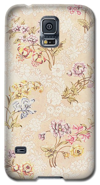 Floral Design With Peonies Lilies And Roses Galaxy S5 Case by Anna Maria Garthwaite