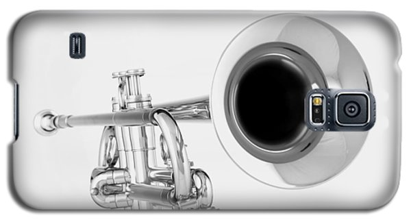 Gold Trumpet Isolated On White Galaxy S5 Case by M K  Miller