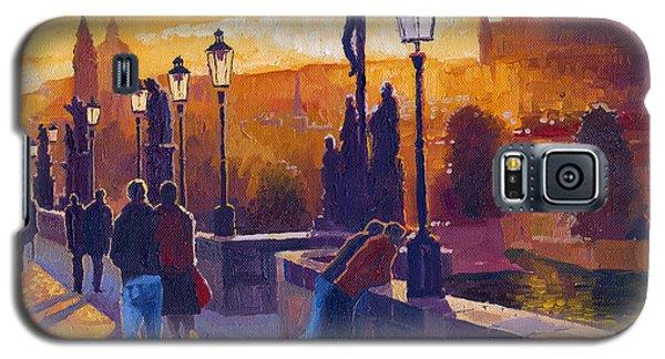 Architecture Galaxy S5 Cases - Golden Prague Charles Bridge Sunset Galaxy S5 Case by Yuriy  Shevchuk