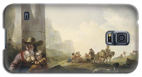 Italian Peasants Among Ruins Galaxy S5 Case by Jan Weenix