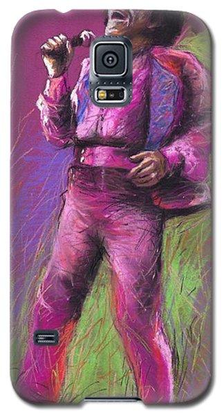 Pastels Galaxy S5 Cases - Jazz James Brown Galaxy S5 Case by Yuriy  Shevchuk