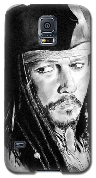 Johnny Depp As Captain Jack Sparrow In Pirates Of The Caribbean Galaxy S5 Case by Jim Fitzpatrick