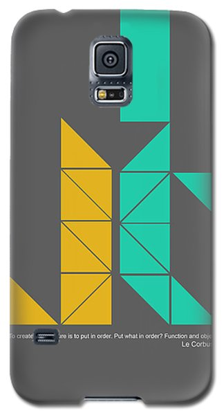 Le Corbusier Quote Poster Galaxy S5 Case by Naxart Studio