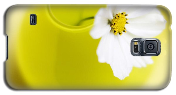 Flowers Galaxy S5 Cases - Little Yellow Vase Galaxy S5 Case by Rebecca Cozart