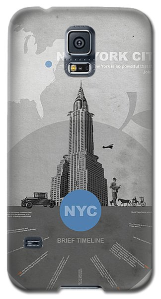 Nyc Poster Galaxy S5 Case by Naxart Studio