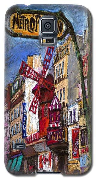 Pastels Galaxy S5 Cases - Paris Mulen Rouge Galaxy S5 Case by Yuriy  Shevchuk