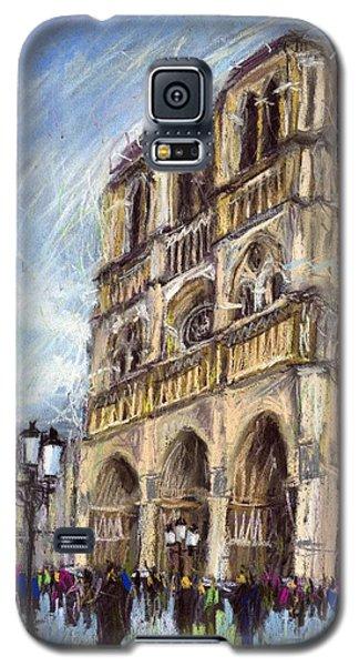 Pastels Galaxy S5 Cases - Paris Notre-Dame de Paris Galaxy S5 Case by Yuriy  Shevchuk