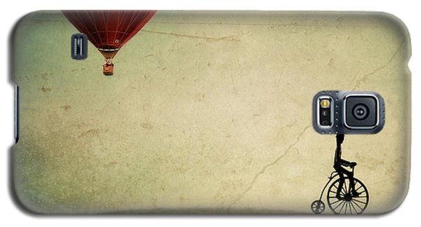 Galaxy S5 Cases - Penny Farthing for Your Thoughts Galaxy S5 Case by Irene Suchocki