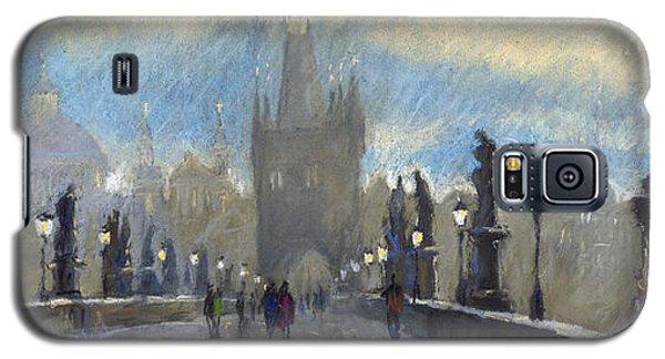 Pastels Galaxy S5 Cases - Prague Charles Bridge 06 Galaxy S5 Case by Yuriy  Shevchuk