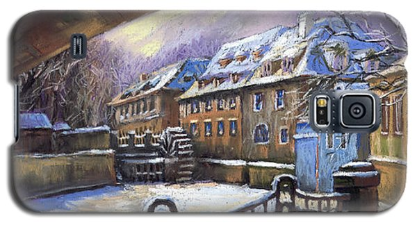 Pastels Galaxy S5 Cases - Prague Chertovka Winter 01 Galaxy S5 Case by Yuriy  Shevchuk