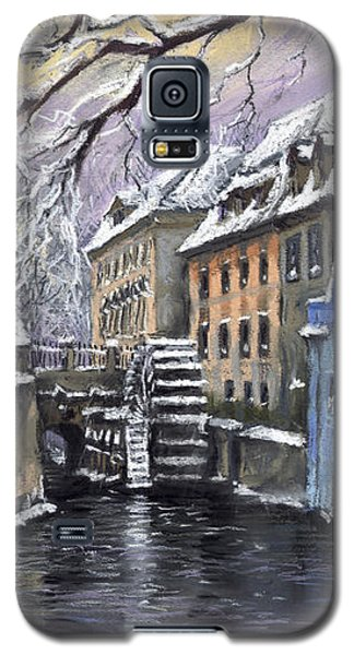 Pastels Galaxy S5 Cases - Prague Chertovka Winter Galaxy S5 Case by Yuriy  Shevchuk