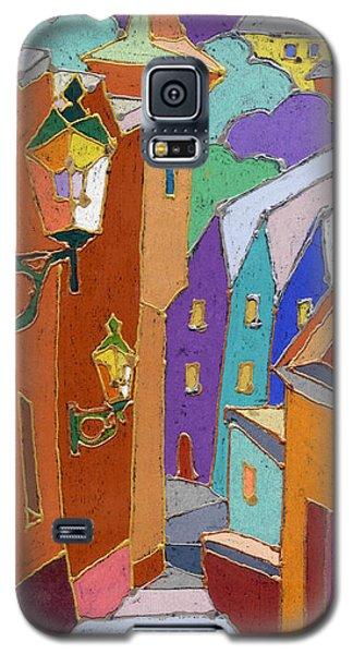 Pastels Galaxy S5 Cases - Prague Old Steps Winter Galaxy S5 Case by Yuriy  Shevchuk