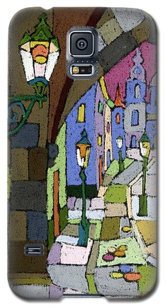 Pastels Galaxy S5 Cases - Prague Old Street Mostecka Galaxy S5 Case by Yuriy  Shevchuk