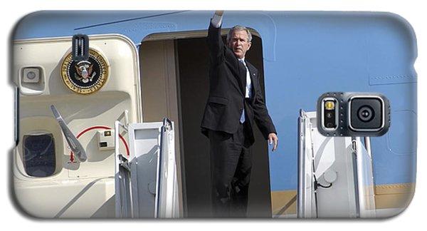 President George Bush Waves Good-bye Galaxy S5 Case by Stocktrek Images