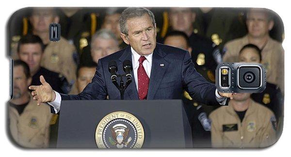 President George W. Bush Speaks Galaxy S5 Case by Stocktrek Images