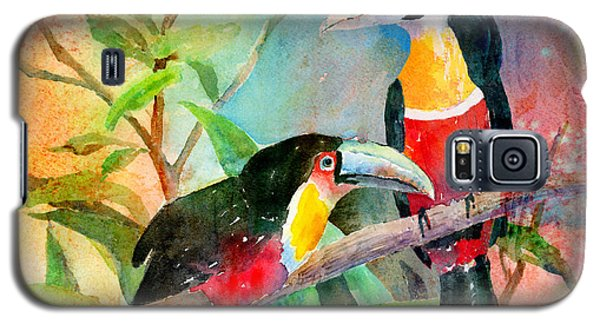 Red-breasted Toucans Galaxy S5 Case by Arline Wagner