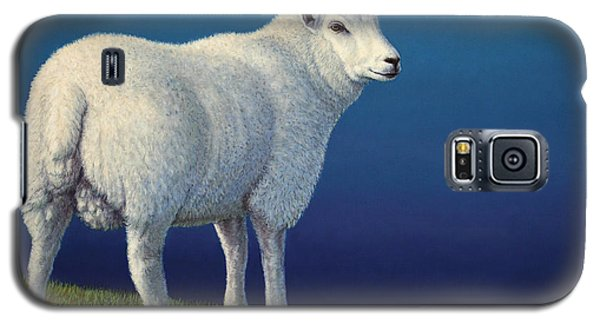 Animals Galaxy S5 Cases - Sheep at the edge Galaxy S5 Case by James W Johnson