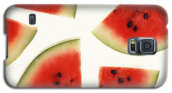 Summer Galaxy S5 Cases - Watermelon Galaxy S5 Case by Photo Researchers