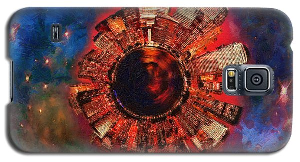 Science Fiction Galaxy S5 Cases - Wee Manhattan Planet - Artist Rendition Galaxy S5 Case by Nikki Marie Smith