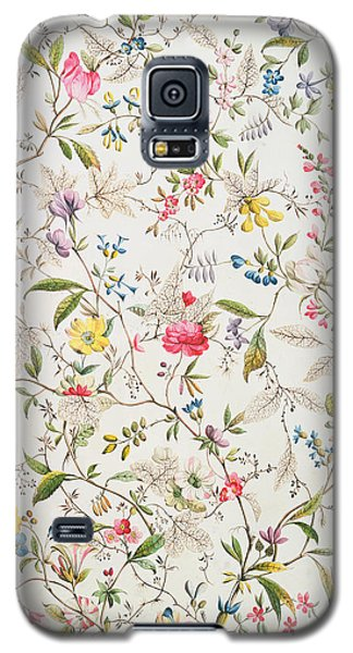 Wild Flowers Design For Silk Material Galaxy S5 Case by William Kilburn