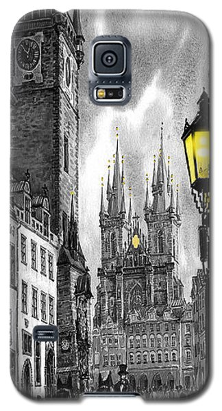 Galaxy S5 Cases -  BW Prague Old Town Squere Galaxy S5 Case by Yuriy  Shevchuk