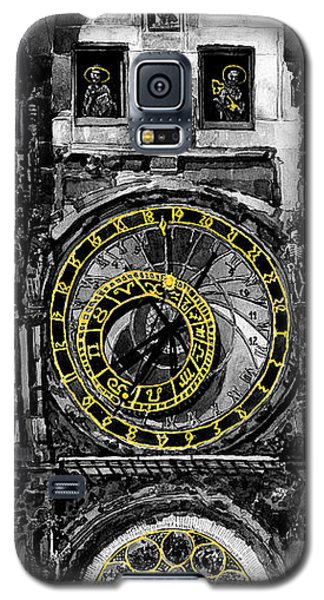 Galaxy S5 Cases -  BW Prague The Horologue at OldTownHall Galaxy S5 Case by Yuriy  Shevchuk